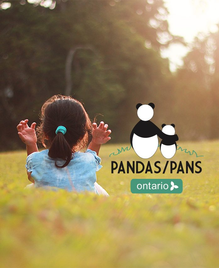 Pandas Pans Ontario With girl in field